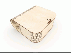 Laser Cut Wood Box Purse Free CDR Vectors Art