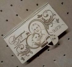 Laser Cut Wooden Decorative Book Shaped Box With Padlock Free CDR Vectors Art