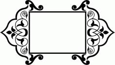 Arabesque Pattern Laser Cut Free AI File