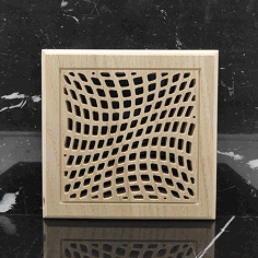 Laser Cut Square Wooden Ventilation Grill Pattern Free AI File