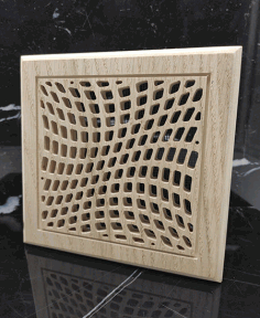 Square Wooden Ventilation Grill Pattern Free AI File