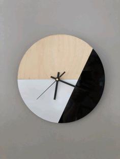 Laser Cut Modern Clock Template Free AI File