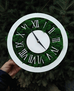 Laser Cut Roman Clock Free AI File