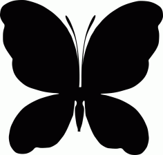 Butterfly Silhouette Free AI File