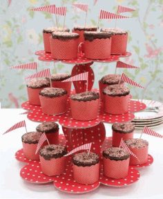 3 Tiers Cupcake Stand Wedding Birthday Party Decoration Free CDR Vectors Art
