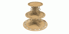 Cake Stand 4mm Multi Level Wedding Cake Stand Free CDR Vectors Art