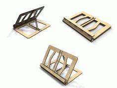 Laser Cut Folding Book Stand 4mm Free CDR Vectors Art