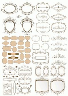 Calligraphic Frames Free CDR Vectors Art