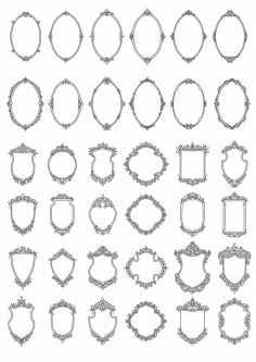 Decorative Frames 2 Free CDR Vectors Art