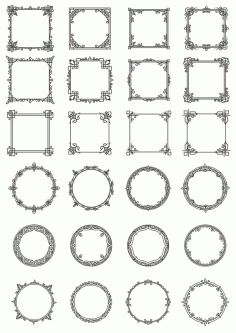 Vectors Decorative Elements Frames Free CDR Vectors Art