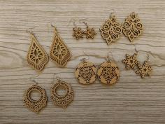 Earrings Pendants Decorations Free CDR Vectors Art