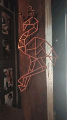 Flamingo Polygonal Wall Decor Geometric Art Free CDR Vectors Art