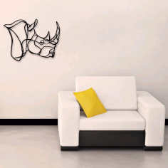 Laser Cut Rhino Wall Art Home Decor Ideas Free CDR Vectors Art