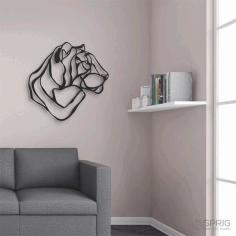 Laser Cut Tiger Decor Wall Art Free CDR Vectors Art