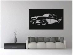 Laser Cut Vintage Classic Car Wall Art Free CDR Vectors Art
