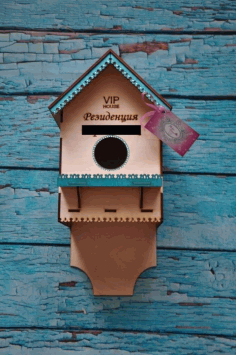 Laser Cut Birdhouse Template Free CDR Vectors Art