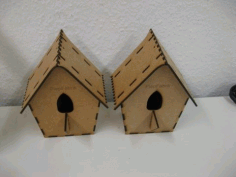 Laser Cut Cuckoo Birdhouse 3mm Free CDR Vectors Art