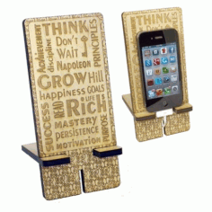 Laser Cut Stand For Smartphone Free CDR Vectors Art