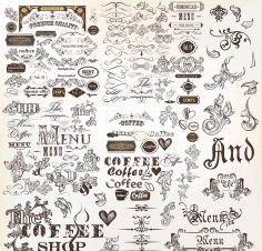 Vintage Decorative Elements And Ornaments Free AI File