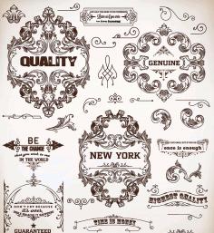 Vintage Floral Decorative Ornaments Free AI File