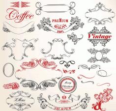 Vintage Ornament Vector Set Free AI File