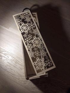 Laser Cut Wine Bottle Box With Sliding Lid Snowflake Design Free CDR Vectors Art