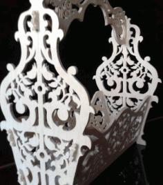 Laser Cut Basket With Handle Planter Flower Box Free CDR Vectors Art