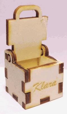 Laser Cut Small Simple Box 3x3x3cm 4mm Free CDR Vectors Art