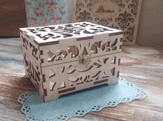 Laser Cut Souvenir Box Casket For Rings Jewelry Box With Lid Free CDR Vectors Art