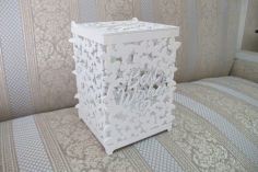 Laser Cut Wooden Wedding Card Box Gift Card Box With Lid Free CDR Vectors Art
