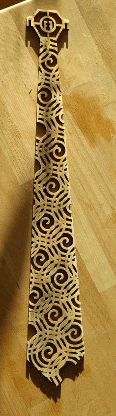 Lasercut Tie With Spiral Pattern Free PDF File