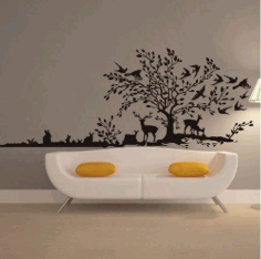 Laser Cut Decorative Panel On Wall Free CDR Vectors Art