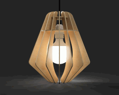 Laser Cut Pendant Lamp Free AI File