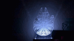 Star Wars Millenium Droid 3d Optical Illusion Lamp Free AI File