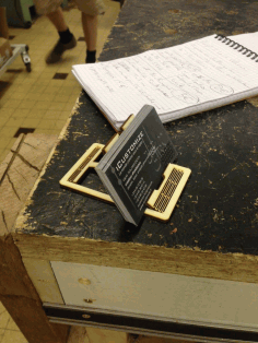 Laser Cut Phone Stand Visit Card Holder 3mm Plywood Free AI File