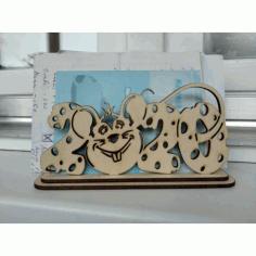 Laser Cut Napkin Holder Mouse 2020 Free CDR Vectors Art