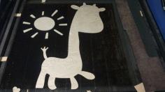 Laser Cut Giraffe And Sun Nursery Decor 800mm 6mm Free CDR Vectors Art