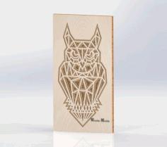 Laser Cut Layered Wooden Owl Free CDR Vectors Art