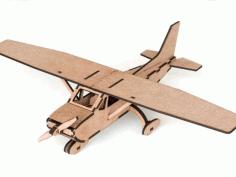 Laser Cut Cessna Airplane Template Free PDF File