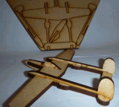 p38 Lightning Aircraft Laser Cut Free PDF File