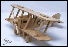 Biplane Plywood Model Free PDF File
