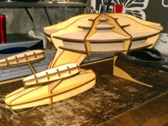 Space Ship Laser Cut Free PDF File
