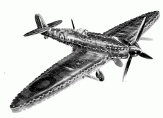 Supermarine Spitfire 3d Puzzle Free PDF File
