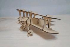 Laser Cut Aircraft Model Free CDR Vectors Art
