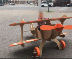 Laser Cut Wooden Airplane Play Sturcture Free CDR Vectors Art