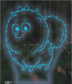 Laser Cut 3d Night Light Mockup Free CDR Vectors Art