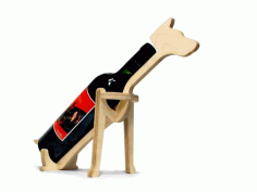 Laser Cut Dog Shape Animal Wine Bottle Holder Free CDR Vectors Art