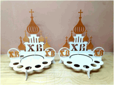 Laser Cut Easter Egg Stand 4mm Template Free CDR Vectors Art