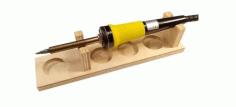 Laser Cut Soldering Iron Stand Free CDR Vectors Art
