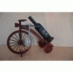 Laser Cut Mini Bar Penny Farthing Bicycle Free CDR Vectors Art